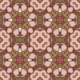 teste padrão Cor-de-rosa-marrom Imagem de Stock