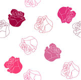 Teste padrão cor-de-rosa sem emenda Fotografia de Stock Royalty Free