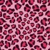 Teste padrão cor-de-rosa sem emenda da textura do leopardo. ilustração do vetor