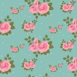 Teste padrão cor-de-rosa sem emenda das rosas Imagens de Stock Royalty Free