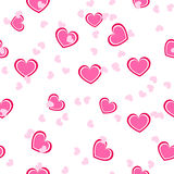 Teste padrão cor-de-rosa sem emenda do coração fotografia de stock royalty free