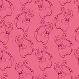 Teste padrão cor-de-rosa sem emenda do gato Ilustração Stock