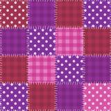 Teste padrão cor-de-rosa sem emenda dos retalhos Imagens de Stock Royalty Free