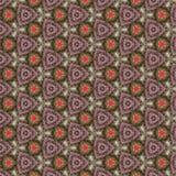 Teste padrão cor-de-rosa verde do papel do caleidoscópio Imagens de Stock Royalty Free