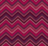 Teste padrão cor-de-rosa vermelho da textura do Knit Foto de Stock
