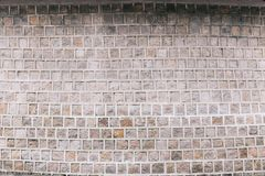 Teste padrão coreano na construção, textura da parede do estilo fotografia de stock
