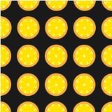 Teste padrão cortante retro do limão do contraste brilhante Fotos de Stock