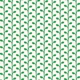 Teste padrão crescente verde das plantas do vetor Fotografia de Stock