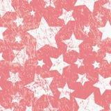 Teste padrão criançola sem emenda do vetor com estrelas Estilo do Grunge Fotos de Stock Royalty Free