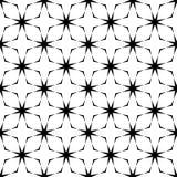 Teste padrão curvado sem emenda preto e branco imagem de stock