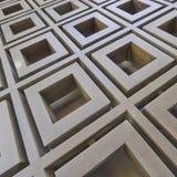 teste padrão 3d abstrato metálico Foto de Stock Royalty Free