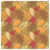 Teste padrão D das folhas de outono ilustração stock