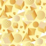 Teste padrão 3d sem emenda geométrico abstrato Fotografia de Stock