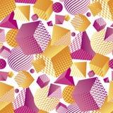Teste padrão 3d sem emenda geométrico abstrato Fotos de Stock Royalty Free