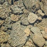 Teste padrão da água em rochas Imagem de Stock