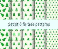 Teste padrão da árvore de abeto Imagem de Stock Royalty Free