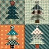 Teste padrão da árvore de Natal Fotografia de Stock