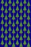 Teste padrão da árvore de Natal Fotografia de Stock Royalty Free