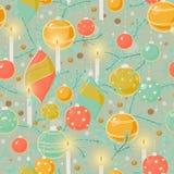 Teste padrão da árvore de Natal Foto de Stock Royalty Free