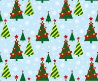 Teste padrão da árvore de Natal Fotos de Stock