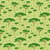 Teste padrão da árvore do savana Fotografia de Stock