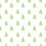 Teste padrão da árvore do White Christmas Imagens de Stock