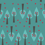 Teste padrão da árvore no fundo verde ilustração stock