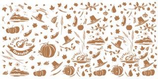Teste padrão da ação de graças e do outono ilustração royalty free