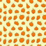 teste padrão da abóbora, fundo do vetor do teste padrão dos frutos Ilustração Stock