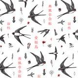 Teste padrão da andorinha do japonês Fotografia de Stock Royalty Free