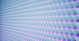 teste padrão da animação da rendição 3D geométrico na textura da arquitetura na forma da caixa do cubo com luz e sombra ilustração royalty free