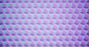 teste padrão da animação da rendição 3D geométrico na textura da arquitetura na forma da caixa do cubo com luz e sombra ilustração do vetor
