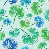 Teste padrão da aquarela das folhas Feito a mão pintado impressão sem emenda bonita do fundo da textura ilustração royalty free