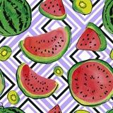 Teste padrão da aquarela do fruto Fotos de Stock Royalty Free