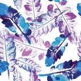Teste padrão da aquarela do fundo sem emenda da textura das folhas ilustração royalty free