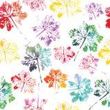 Teste padrão da aquarela do fundo sem emenda da textura das folhas ilustração stock