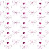 Teste padrão da aquarela dos corações e das curvas no branco ilustração stock