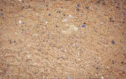 Teste padrão da areia de uma praia Imagens de Stock Royalty Free