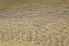 Teste padrão da areia na praia Fotos de Stock Royalty Free