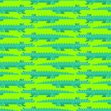 Teste padrão da arte do pixel do crocodilo sem emenda Fundo mordido do jacaré 8 jogo velho dos gráficos do ornamento do croc ilustração do vetor