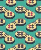 Teste padrão da arte do pixel de Gamepad sem emenda Fundo do manche 8bit vi ilustração do vetor