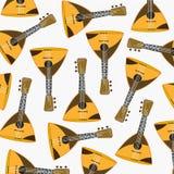Teste padrão da balalaica do instrumento de música Foto de Stock