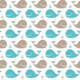 Teste padrão da baleia Fotografia de Stock Royalty Free