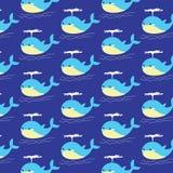 Teste padrão da baleia azul Imagens de Stock