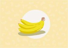 Teste padrão da banana ilustração stock