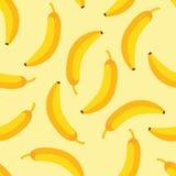 Teste padrão da banana Imagens de Stock Royalty Free