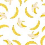 Teste padrão da banana do vetor Fotos de Stock
