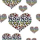 Teste padrão da cópia do leopardo Repetindo o fundo Imagens de Stock
