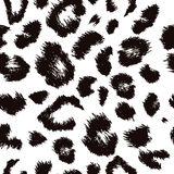 Teste padrão da cópia do leopardo Repetindo o vetor sem emenda Fotos de Stock