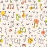 Teste padrão da canção do Doodle Fotografia de Stock Royalty Free